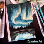 Mini Watercolors - Northern Lights 1