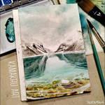 Mini Watercolor - Lake 1