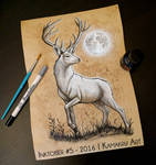 Inktober 2016 (Ink and Coffee) #5 - The White Stag