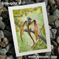 Smaugust/Dragonbrushed #17 by Kamakru