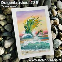Dragonbrushed #28 - Ocean Waves by Kamakru