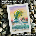 Dragonbrushed #28 - Ocean Waves