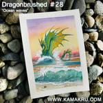 Dragonbrushed #28 - Ocean Waves