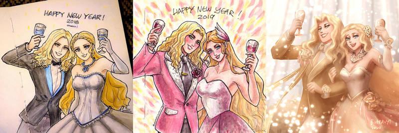 New Year Couple Lancelot Odette 2018-2020