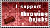 Throwing Bricks Stamp by DemandinCompensation