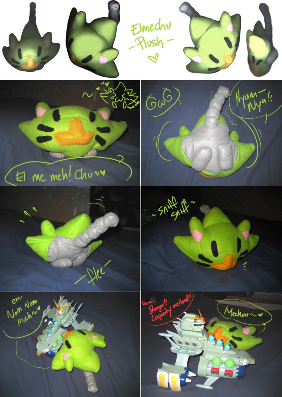 Elmechu Plush Commission by DemandinCompensation