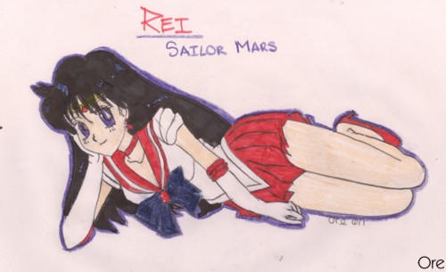 Sailor Mars: Rei by Ore7