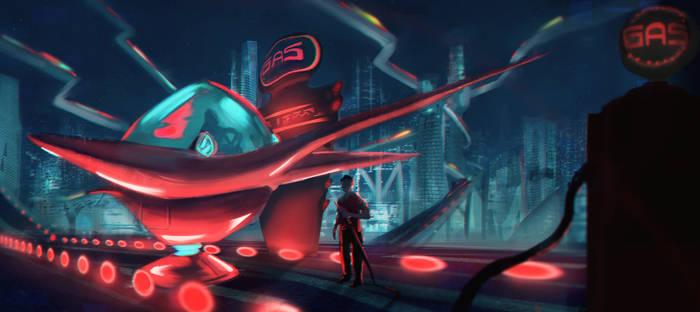 Futuristic-carship
