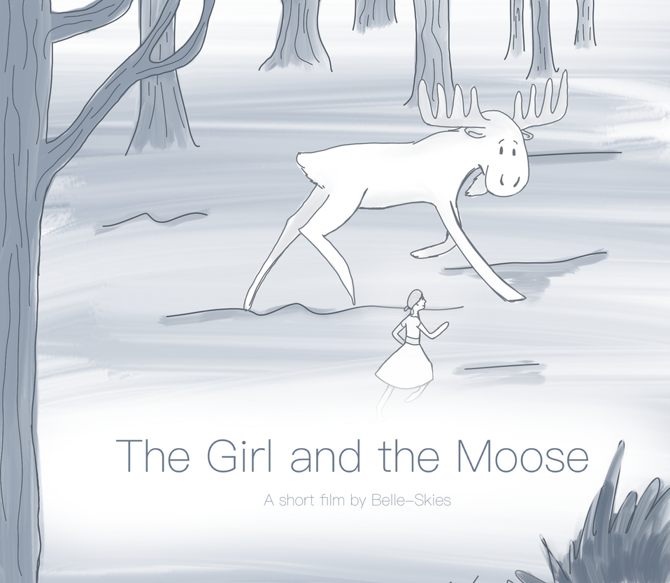 The Girl and the Moose 'official' poster by Belle-Skies