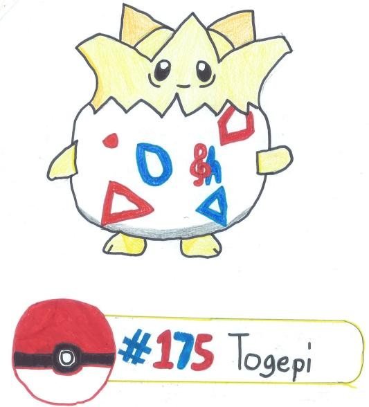 No. 175 Togepi by x3CursedNeko