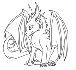 baby dragon lineart