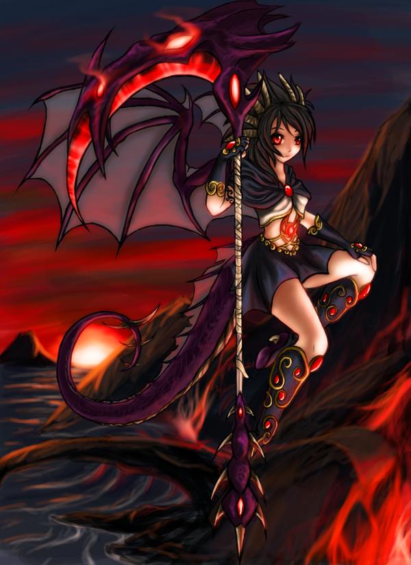 dragon girl or something so by sweetsasu on deviantart