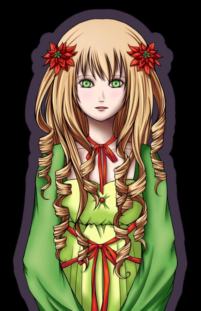 Poinsettias - Coloured by Elistanel