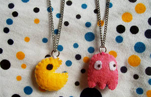 Pacman Necklaces by youtastelikecookies