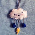 Happy Cloud Plush Necklace