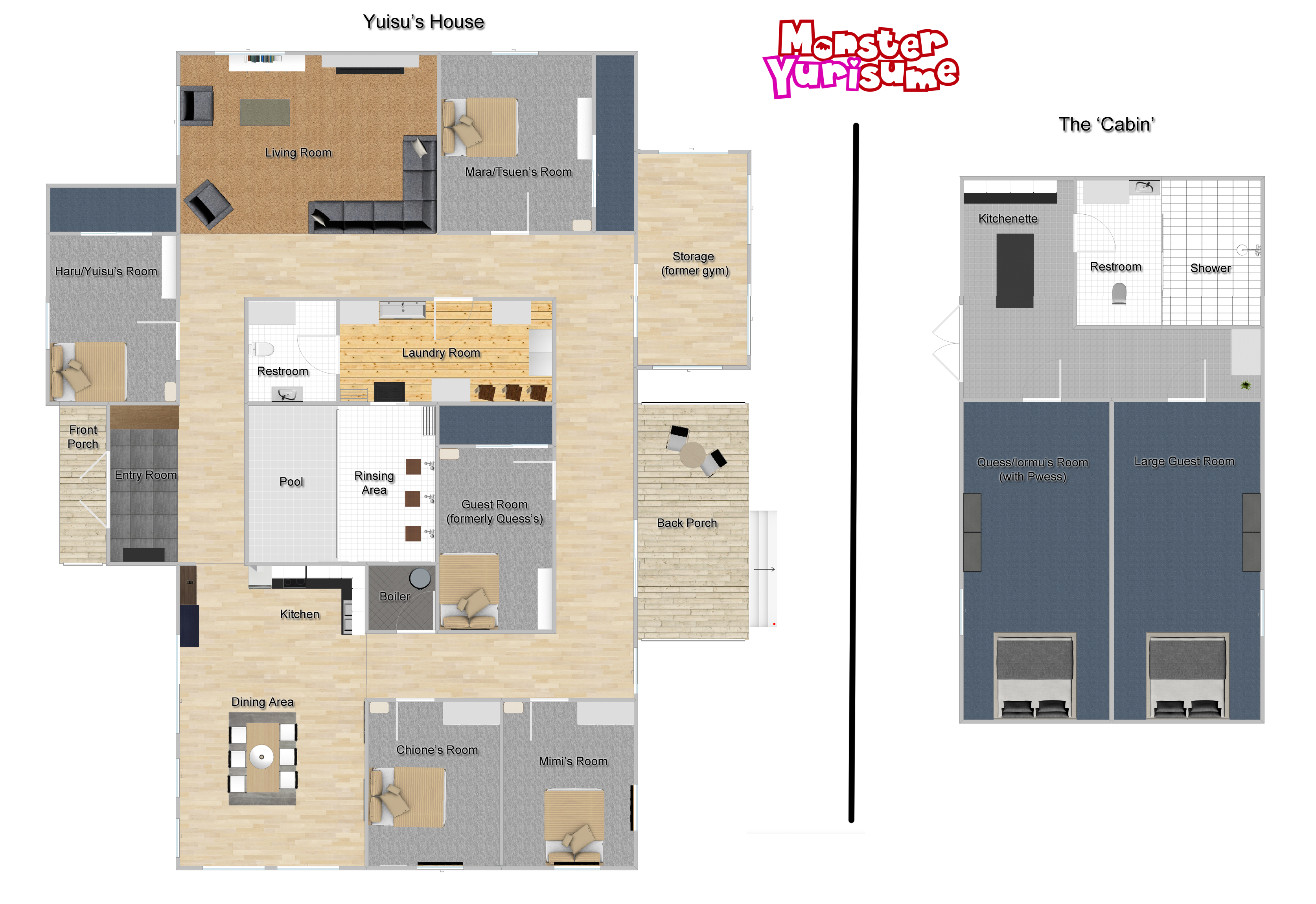 Yuisu 39 s house floor plan by natron77 on deviantart for Monster mansion mobile home floor plan