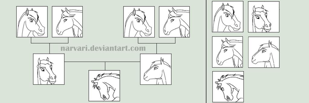 Horse Family Tree Base by Narvari