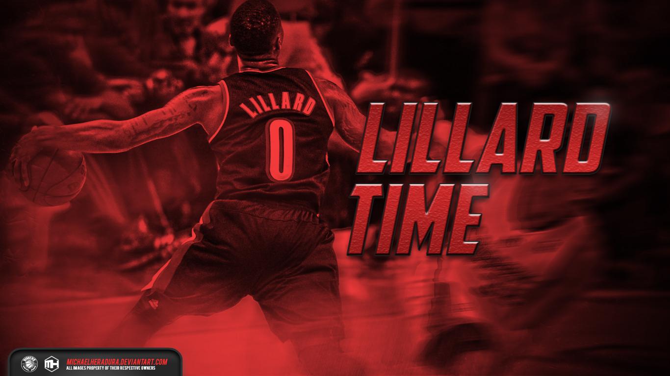 Damian Lillard Lillard Time wallpaper by michaelherradura