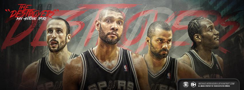 San Antonio Spurs The Destroyers FB Cover by michaelherradura