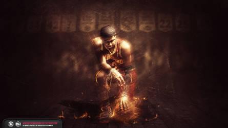 Kyrie Irving The Fire wallpaper by michaelherradura