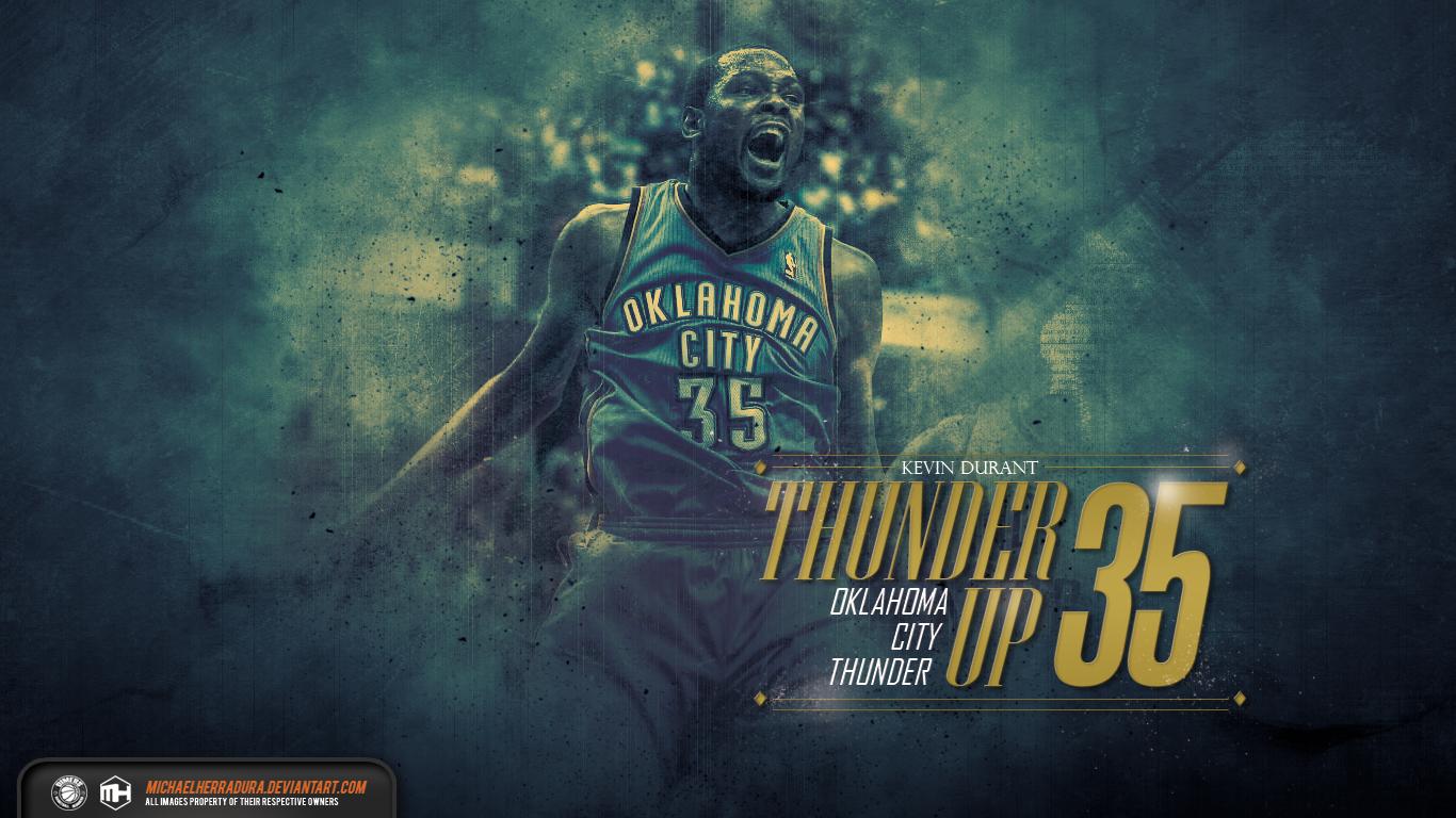 Kevin Durant Thunder Up wallpaper by michaelherradura on ...
