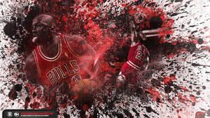 Michael Jordan Splatter wallpaper by michaelherradura
