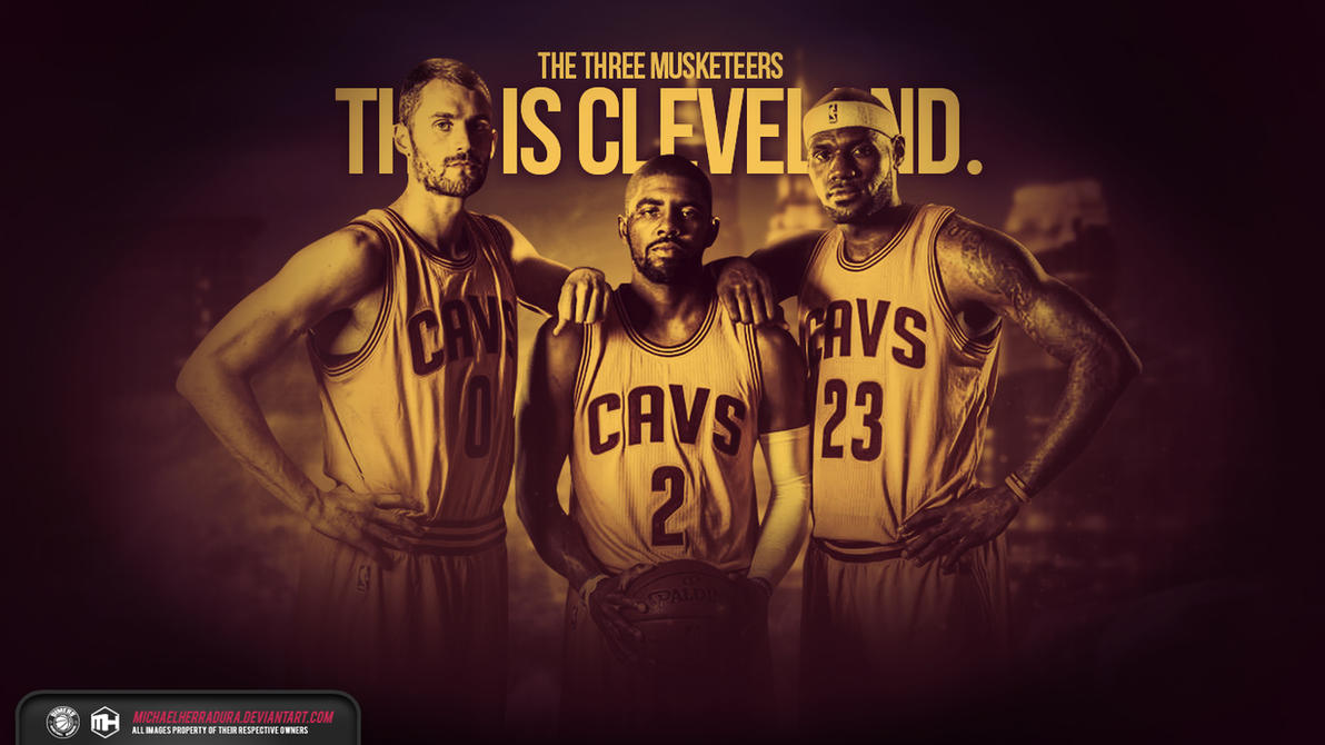 Cleveland Cavaliers The Three Musketeers Wallpaper By Michaelherradura