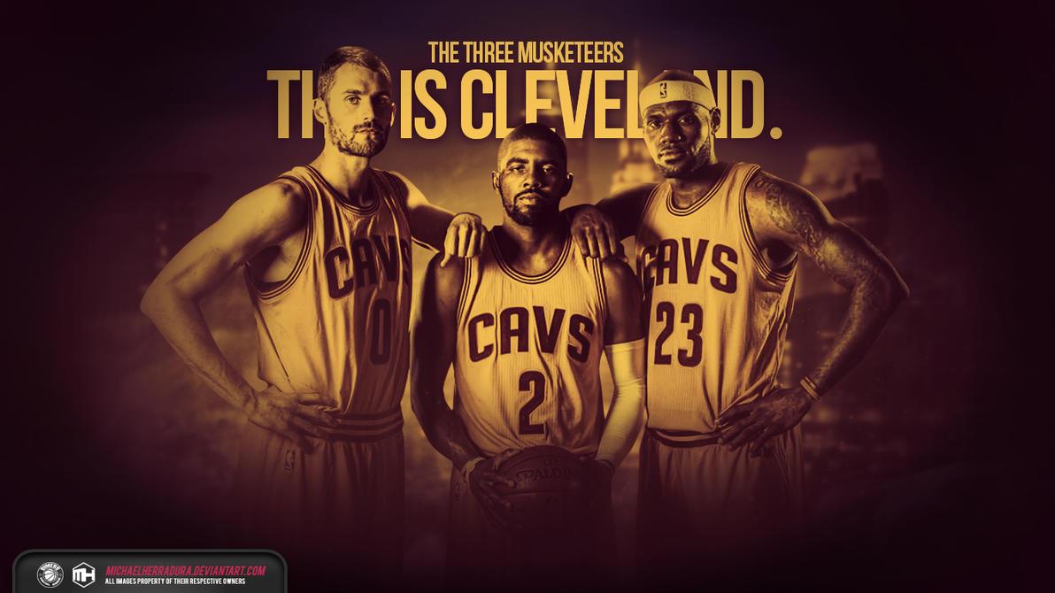 Cleveland Cavaliers The Three Musketeers wallpaper by michaelherradura