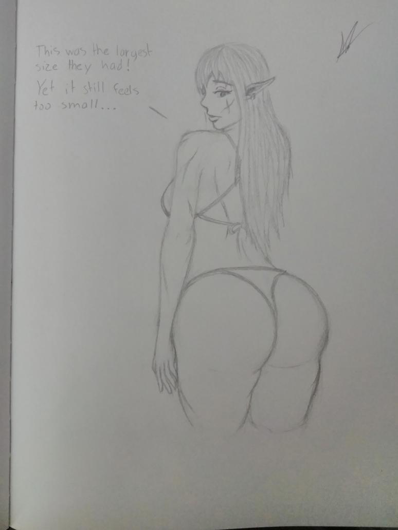 Sketches 89 (Bikini Problems) by AnimalAutumn