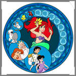 Little Mermaid Stained Glass