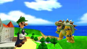 Giant Luigi vs Giant Bowser