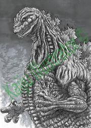 Shin Godzilla by KaijuIllustrator