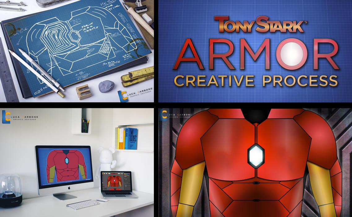 Tony Stark's Armor Creative Process by TrooperVB
