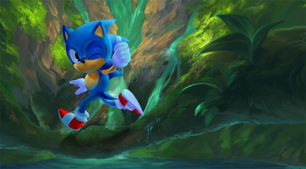 Classic Sonic By Cat Meff On Deviantart
