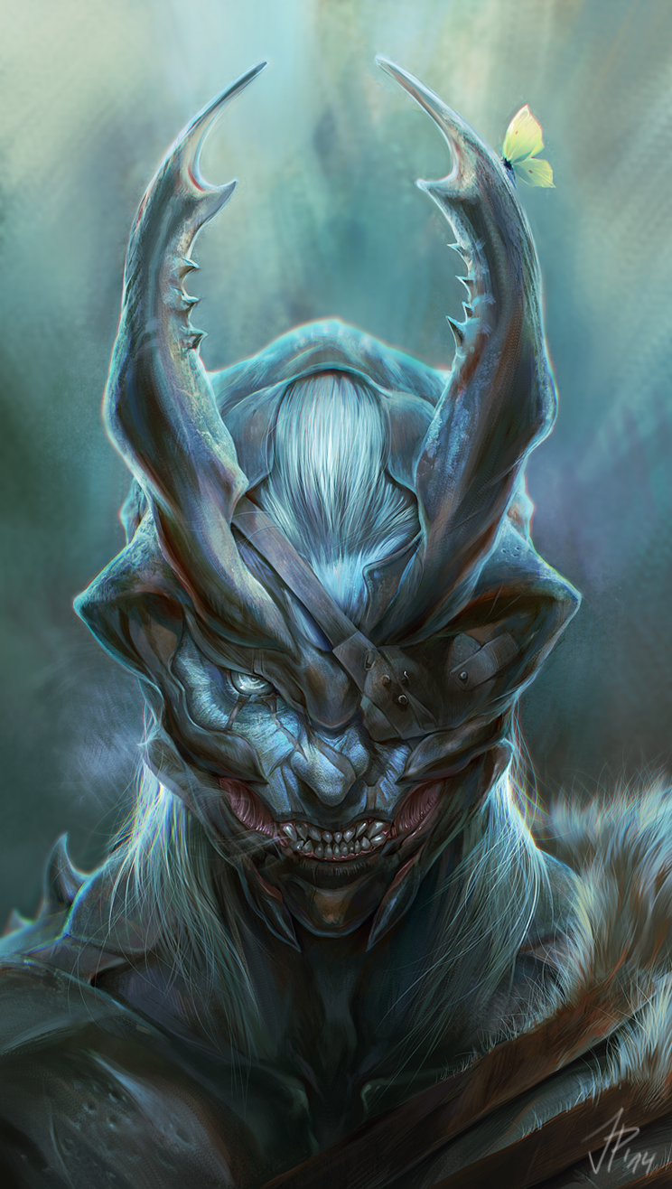 Portrait of a Beetle Lord by cat-meff