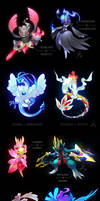 A bunch of Pokemon Fusions