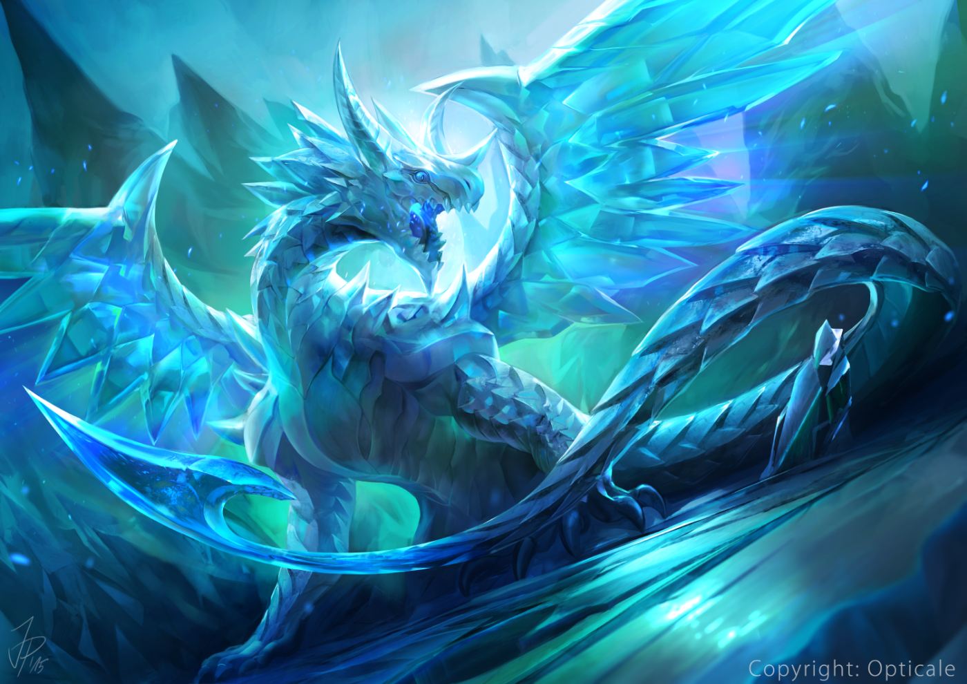The Legendary Crystal Dragon Opticale by catmeff on DeviantArt