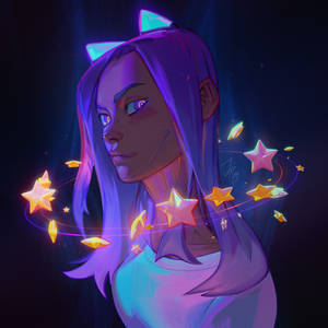 Neon horns and holographic stars