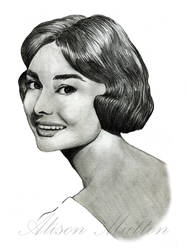 Audrey Hepburn 2 by Alene
