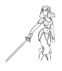Natalie Sketch by altimis