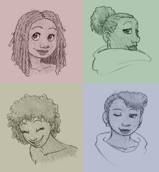 How To Draw Natural Curly Hair