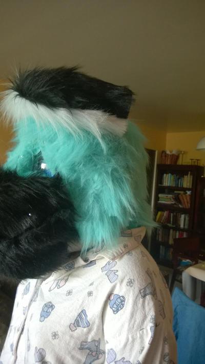 Fursuit Head Progress by Ravenhoof