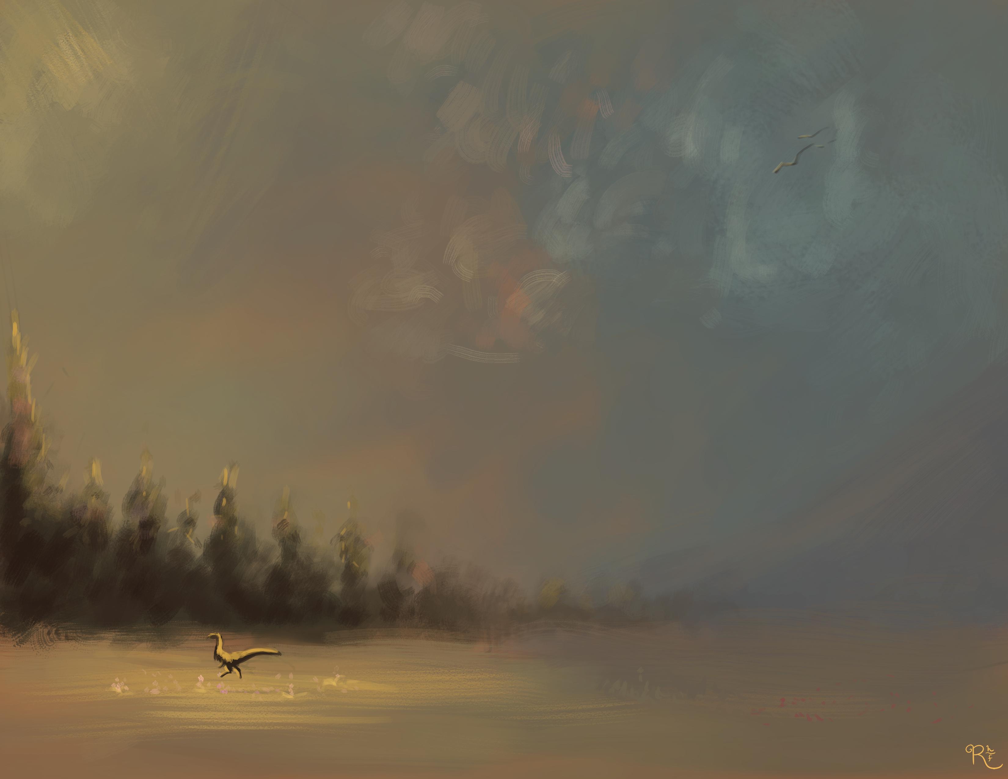 ORIGINAL | Landscape With Dragon No. 2