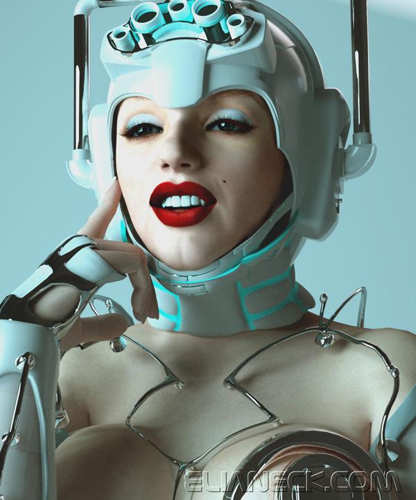 Cyber marylin by elianeck