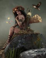 warrior woman by elianeck