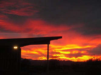 Sunset at Old Tucson Studios by kbartram
