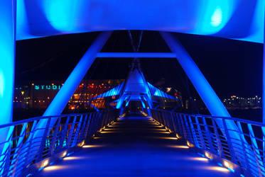 Tempe Town Lake Pedestrian Bridge by kbartram