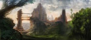 Fantasy castle environment