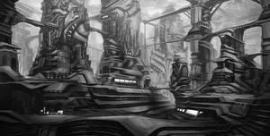 Futuristic city by N7U2E