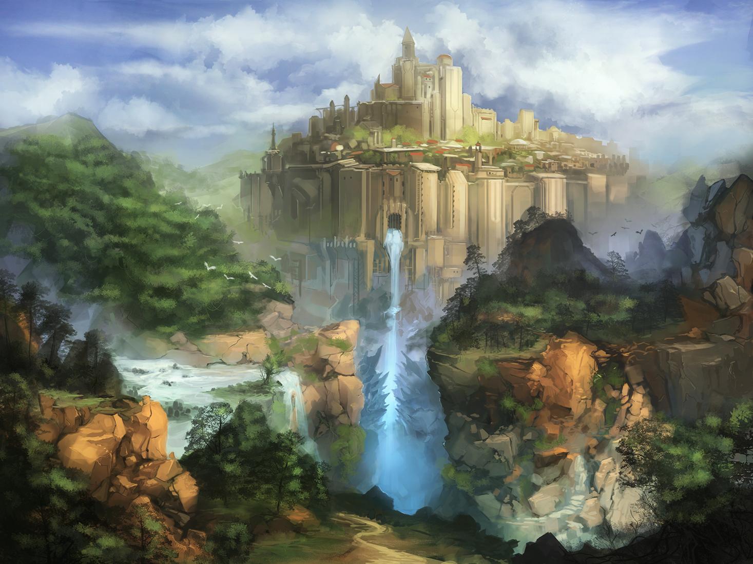 Fantasy castle by N7U2E